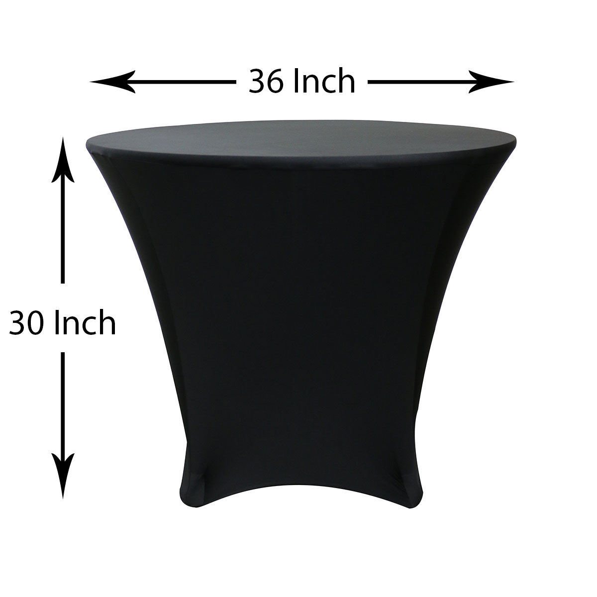 36 x 30 inch Round Spandex Highboy Cocktail Table Covers