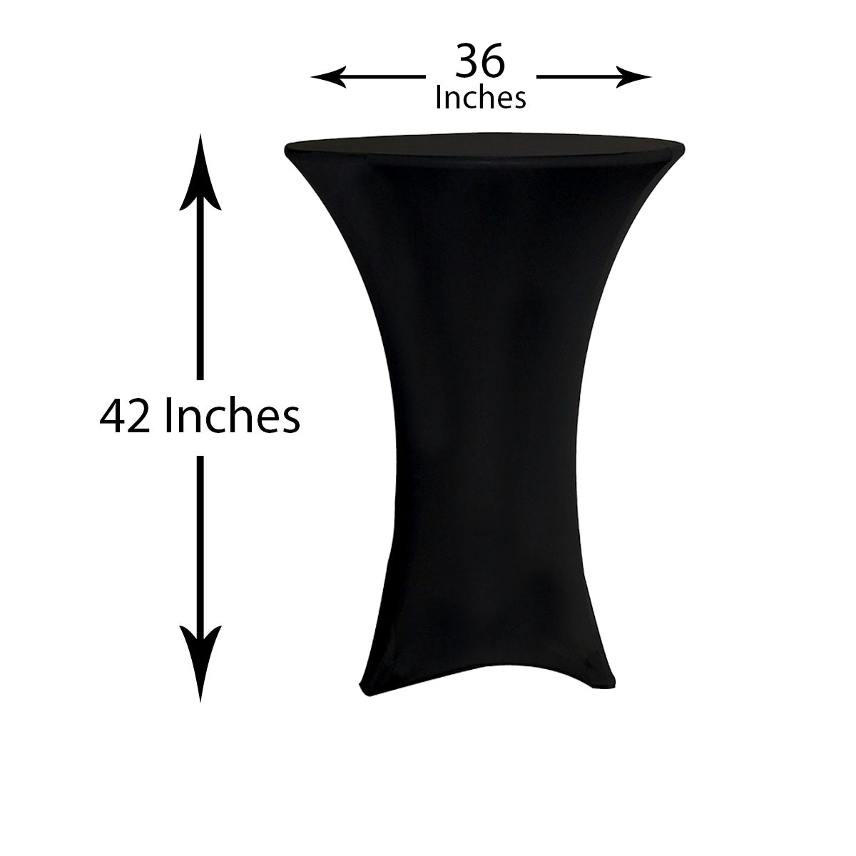 36 inch highboy cocktail table covers dimension