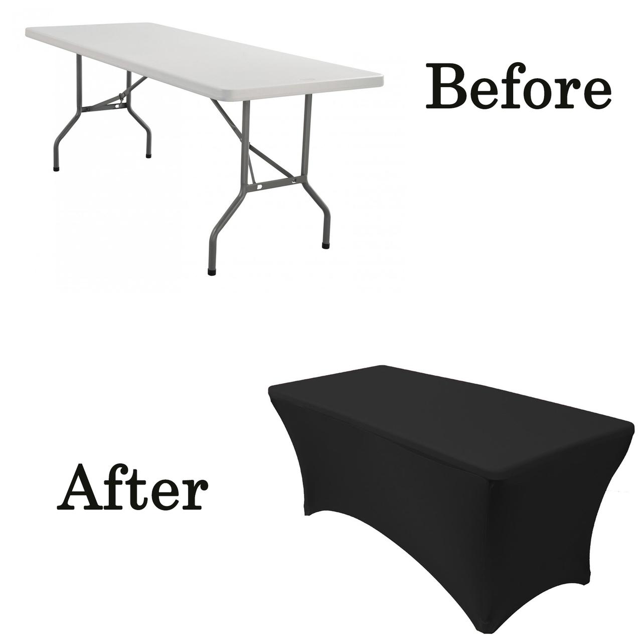 6ft rectangular spandex tablecloth black lifetime folding table covers