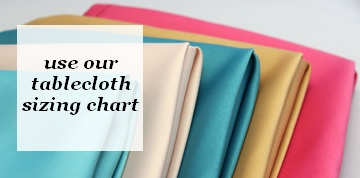 Tablecloth Sizing Chart - Measure Table Linens