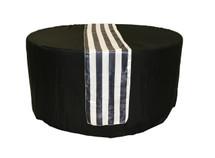 14 x 108 inch Satin Table Runner Black/White Striped