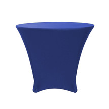 36 x 30 inch Lowboy Cocktail Round Stretch Spandex Table Cover Royal Blue