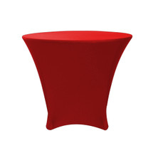 36 x 30 inch Lowboy Cocktail Round Stretch Spandex Table Cover Red