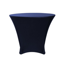36 x 30 inch Lowboy Cocktail Round Stretch Spandex Table Cover Navy Blue