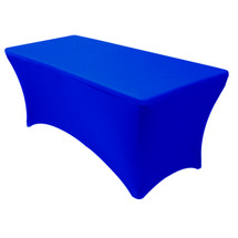 Stretch Spandex 8 ft Rectangular Table Cover Royal Blue