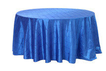 120 Inch Pintuck Taffeta Round Tablecloths Royal Blue
