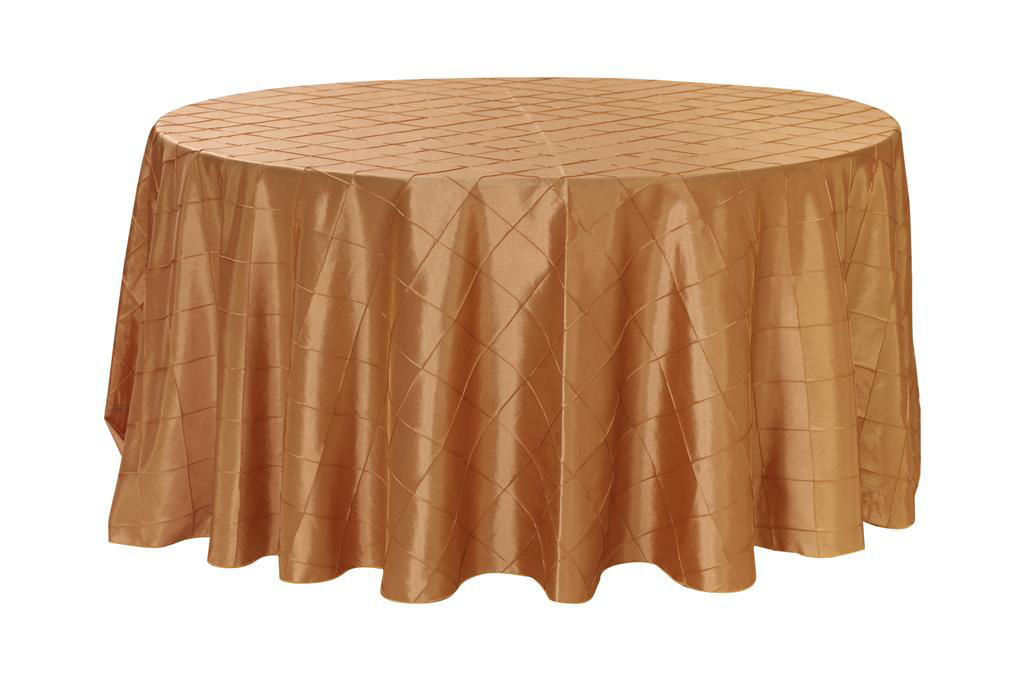 120 inch pintuck taffeta round tablecloth gold your for 120 inch round table seats how many