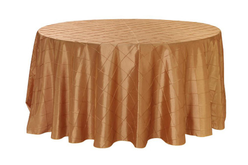 120 inch pintuck taffeta round tablecloth gold your for 120 inch round table cloths