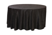 132 Inch Pintuck Taffeta Round Tablecloths Black
