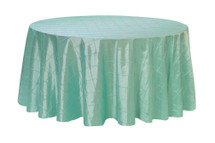 132 Inch Pintuck Taffeta Round Tablecloths Tiffany