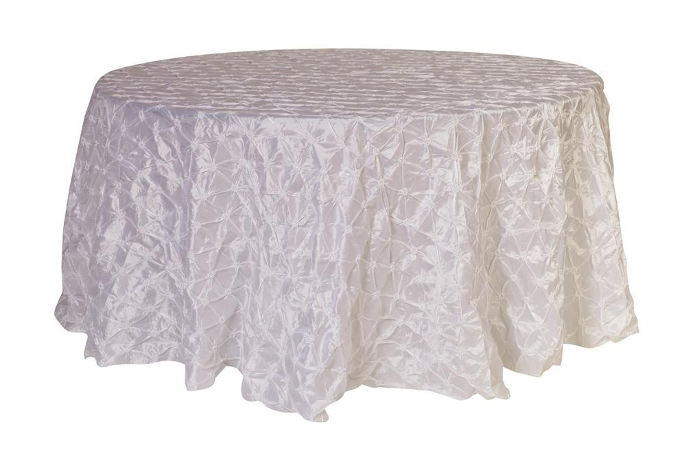 120 inch pinwheel pinched taffeta round tablecloth white for 120 round white table linens