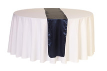 14 x 108 inch Satin Table Runners Navy Blue
