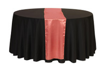 14 x 108 inch Satin Table Runners Coral