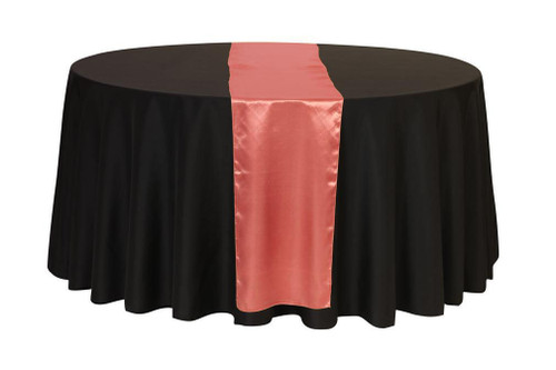 14 x 108 inch satin table runner coral your chair covers for 108 inch table runners