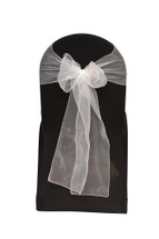Organza Sashes White