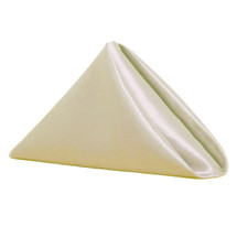 20 inch Satin Cloth Napkins Ivory