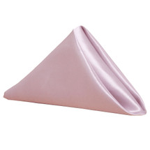 Satin Cloth Napkins Pink