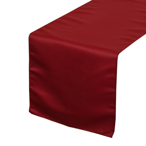 14 x 108 inch l amour satin table runner dark red your chair covers inc