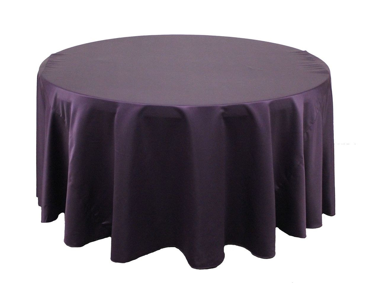 120 inch round l 39 amour tablecloth eggplant clearance for 120 inch round table seats how many