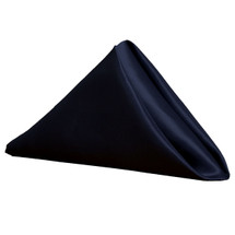 Satin Cloth Napkins Navy Blue