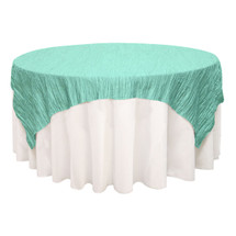 72 inch Square Crinkle Taffeta Table Overlays Tiffany