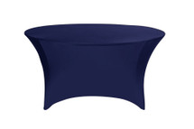 Stretch Spandex 6 ft Round Table Covers Navy Blue
