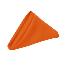 20 inch Polyester Cloth Napkins Orange (Pack of 10)