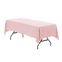 60 x 102 inch Rectangular Polyester Tablecloth Blush