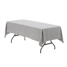 60 x 126 inch Rectangular Polyester Tablecloth Gray