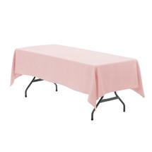 60 x 126 inch Rectangular Polyester Tablecloth Blush
