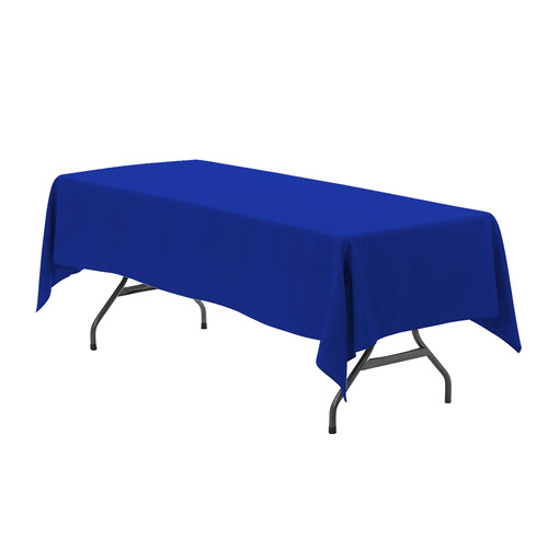 60 x 126 inch Rectangular Polyester Tablecloth Royal Blue