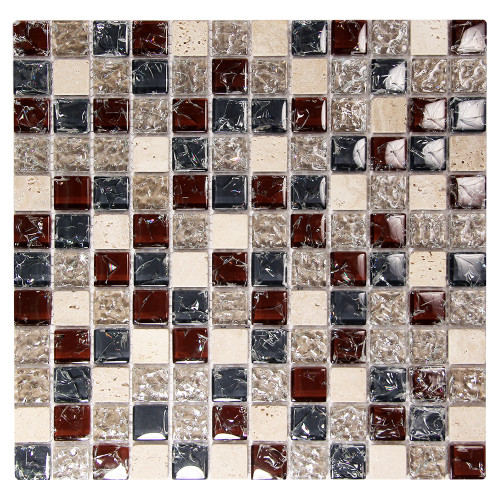 Electra GMC 1  Burgundy Mosaic Glass Tile