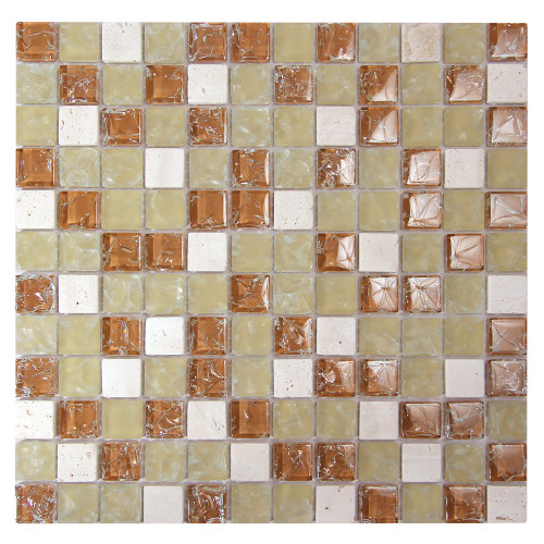 Electra GMC 6 Tan Mosaic Glass Tile