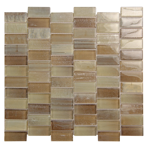 Extant Beige 1x2 inch Pool Mosaic Glass Tile