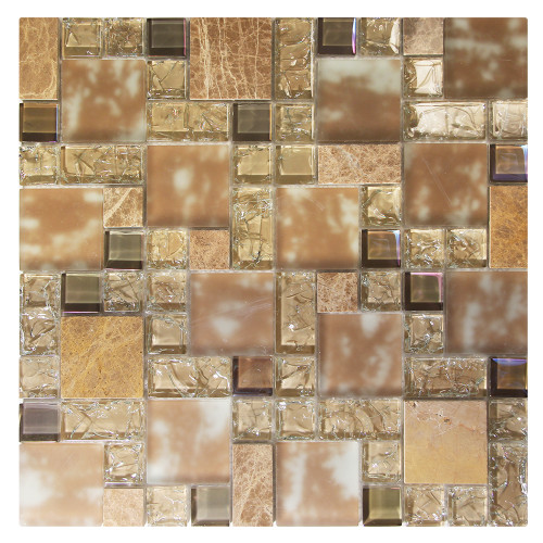 French Pattern Crius 5 Mosaic Glass Tile