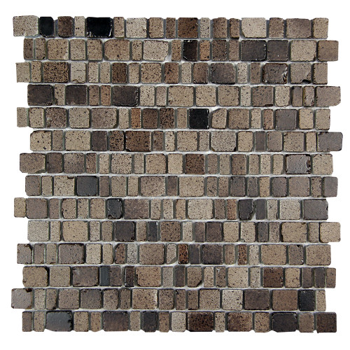 Ice Age Rock Rustic Glass Tile