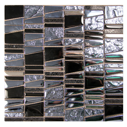 Kappa Quartz Mosaic Glass Tile