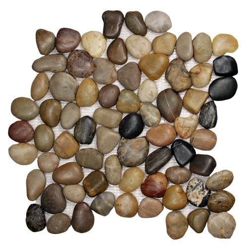 Pebble Stone Round Mixed Tile