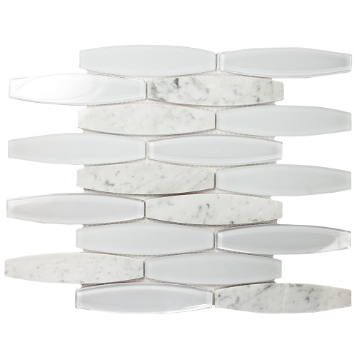Radiant Blanco Mosaic Glass Tile