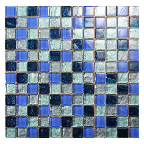 Splash Grey Pool Tile Glass Mosaic
