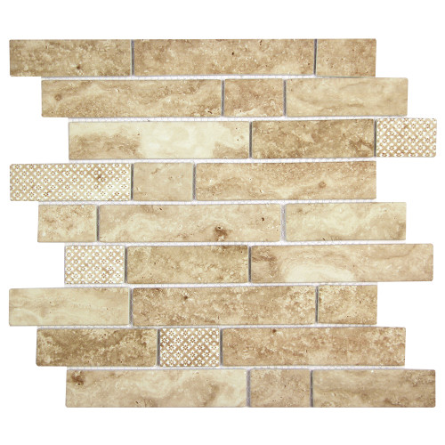Stickcycle Avorio Sand Mix Recycled Glass Tile