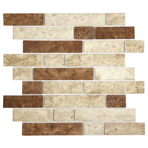 Stickcycle Beige Mix Recycled Glass Tile