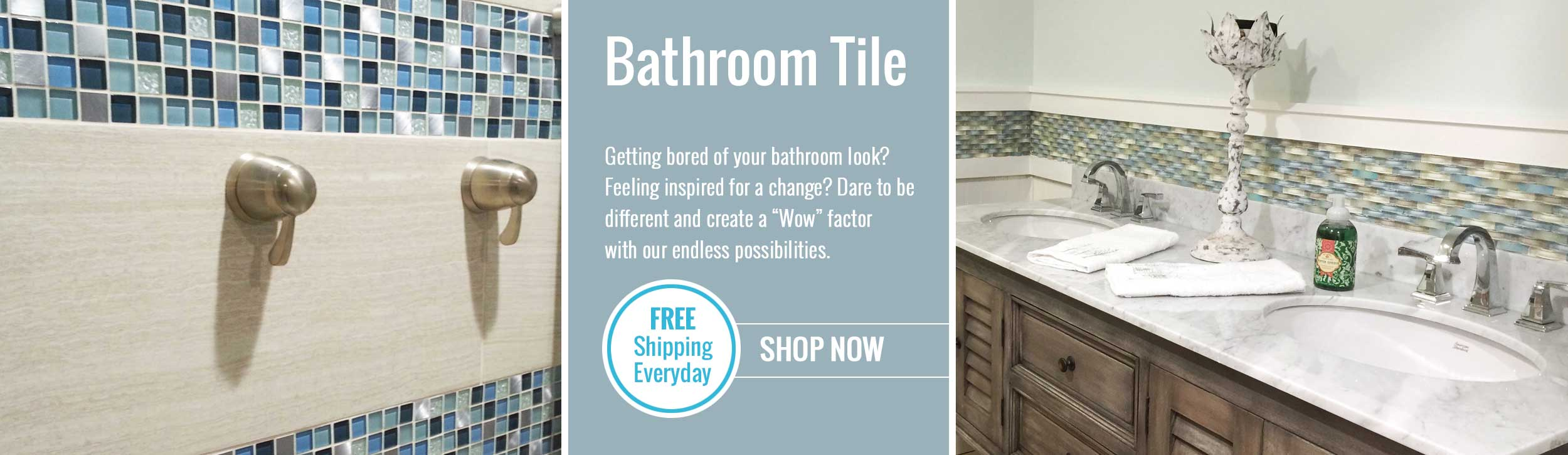 Shop bathroom tile in a variety of styles