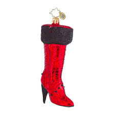 Christopher Radko Very Best Boots - Red