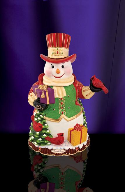 Christopher Radko Regal Snowman Cookie Jar