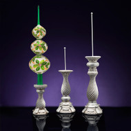 Christopher Radko 3 Assorted Size Finial Stand - Silver