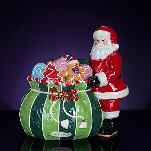 Christopher Radko Splendid Santa Candy Jar