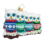 Christopher Radko Owl in a Row
