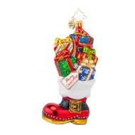 Christopher Radko Christmas Loot Boot