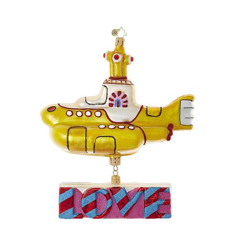 Christopher Radko Yellow Submarine with Love